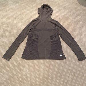 Nike Dri-Fit running Long sleeve top w/ hood Sz XL